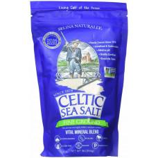 Морская соль пищевая Celtic Sea Salt, Light Grey Celtic, смесь живых минералов, (454 г)