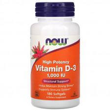 Высокоактивный витамин D-3, 1 000 МЕ, 180 мягких таблеток